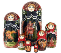 buyrussiangifts-store - Firebird Russian Fairy Tale Doll 7 Piece Set - BuyRussianGifts Store - Nesting doll