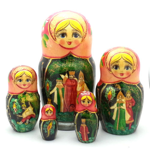buyrussiangifts-store - Story of the Firebird Matryoshka Doll Nesting Set - BuyRussianGifts Store - Nesting doll