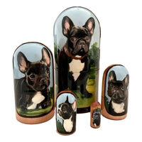 Dog French bulldog matryoshka
