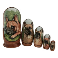 French bulldog Russian nesting doll