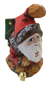 Russian Santa Unique Shape with Christmas Tree