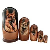 Dog nesting dolls from Russia