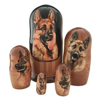 German shepherd nesting doll