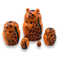 Wild animals nesting dolls mini size