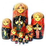 buyrussiangifts-store - Golden Cockerel 10 piece Nesting Fairy Tale Doll Set - BuyRussianGifts Store - Nesting doll