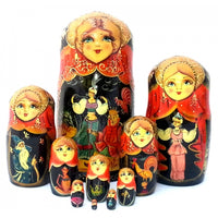 Golden Cockerel 10 piece Nesting Fairy Tale Doll Set