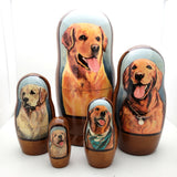 Golden Retriever Dog Nesting Doll