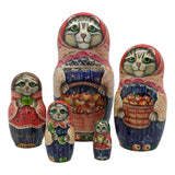 Russian grey cat doll