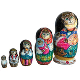 Russian cats stacking dolls