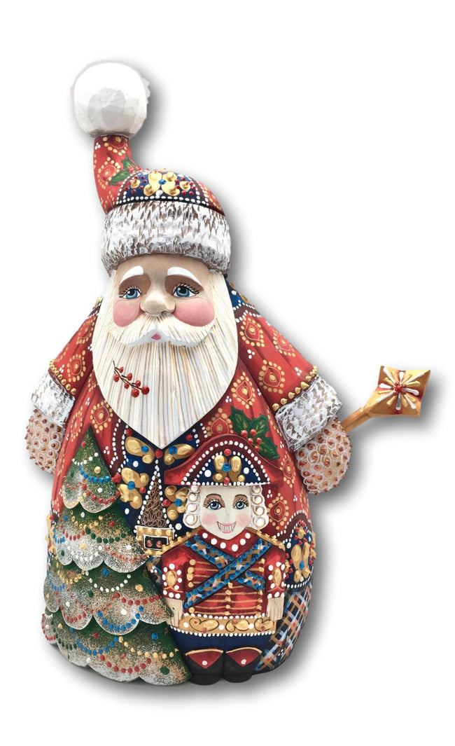 Russian wooden Santa Claus