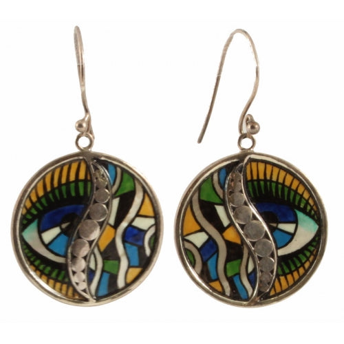 Vislana Collection Hand Painted Earrings Inspired by Klimt