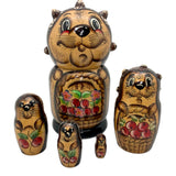 Hedgehog unique Russian dolls