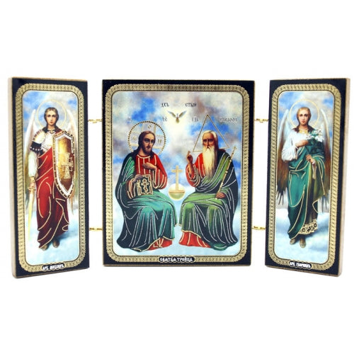 New Testament Trinity Icon Triptych