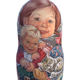 Kids babushka wooden doll