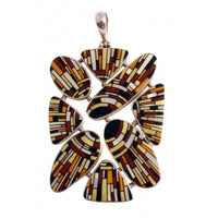 Hand Painted Pendant Inspired by Klimt design