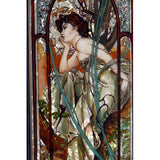 buyrussiangifts-store - Lacquer Box Evening Contemplation Inspired by Mucha - BuyRussianGifts Store - Lacquer Boxes