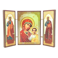 Our Lady of Kazan Russian Orthodox Triptych