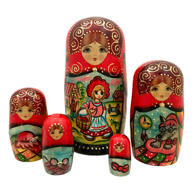 Kids storyteller nesting dolls
