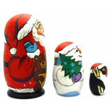 Santa with Friends Nesting Doll Set