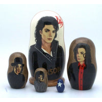 "buyrussiangifts-store - Michael Jackson BAD Matryoshka Set 4"" Tall - BuyRussianGifts Store - Nesting doll"