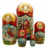 buyrussiangifts-store - The Magic Swan Geese Nesting Doll Fairy Tale Set - BuyRussianGifts Store - Nesting doll