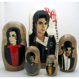 "Michael Jackson Nesting Doll Set 7"" Tall"