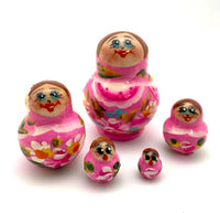Pink matryoshka mini