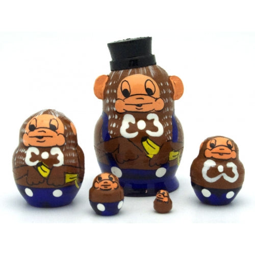 Monkey Miniature Nesting Doll Set