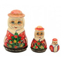 buyrussiangifts-store - Mrs Claus and Santa Matryoshka Set - BuyRussianGifts Store - Nesting doll
