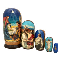 Russian nesting dolls life of jesus