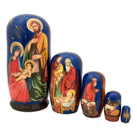 Nativity Christmas nesting dolls