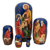 Russian nesting dolls nativity scene