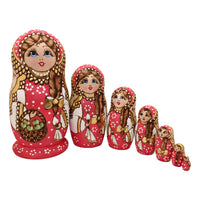 Stacking dolls pink gold