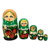 Stacking dolls green