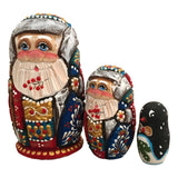 Carved Santa nesting doll