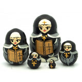 buyrussiangifts-store - Nun Miniature Nesting Doll Set - BuyRussianGifts Store - Nesting doll