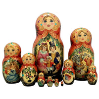Nutcracker nesting dolls