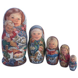 Unique collectible Russian nesting dolls