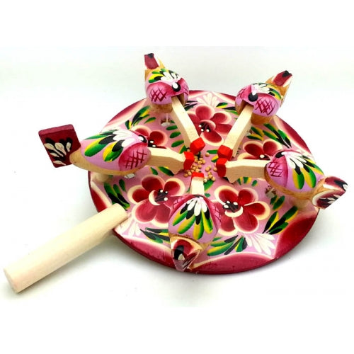 Paddle Toy with Pink Flowers
