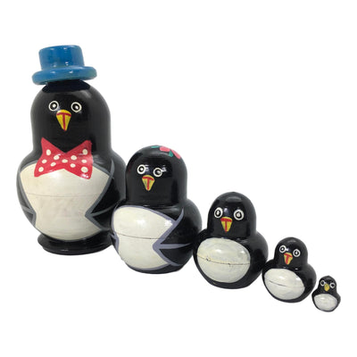 Blue penguin matryoshka