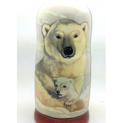 "buyrussiangifts-store - Polar Bear Nesting Doll Set 7"" Tall - BuyRussianGifts Store - Nesting doll"