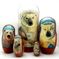 Polar Bear Nesting Dolls Set