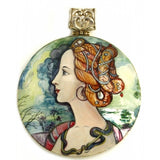 Pendant Inspired Portrait of a Young Woman by Sandro Botticelli