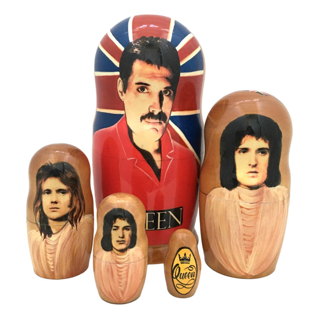 Queen rock band nesting dolls