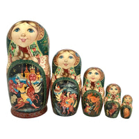 Matryoshka dolls fairytale for kids