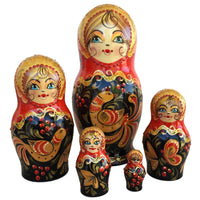 Red Russian stacking dolls