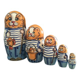 Orange cat matryoshka