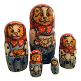 Red cat nesting doll
