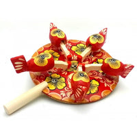 Red Chicken Pecking Paddle Toy