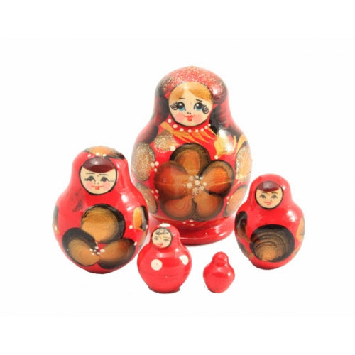 Red with Gold Small Nesting doll